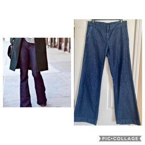 J. Crew Wide Leg Flare Denim Trousers, size 8